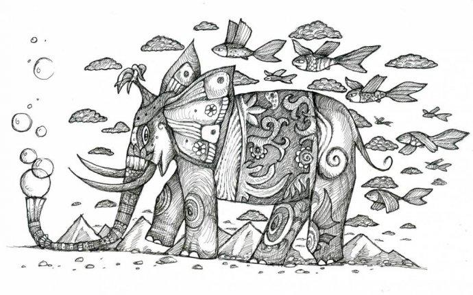 Графика : Слон. Автор Ирина Валентиновна Потапенко
