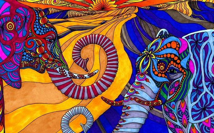 Играть в пазл (192 элемента) - Цветные слоны | Пазлы | Pinterest