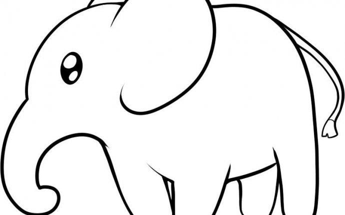 Как нарисовать слона карандашом поэтапно для детей и начинающих
