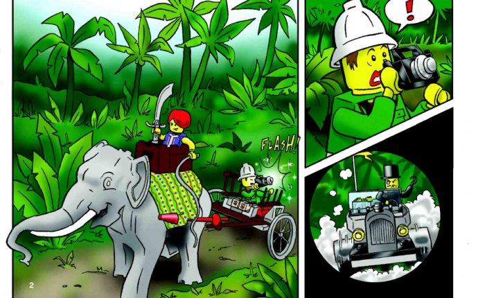 Lego Караван слонов инструкция. Сборка лего 7414