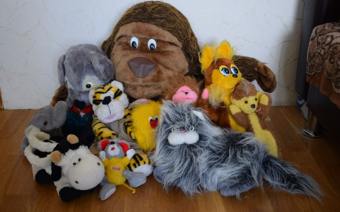 Мягкая игрушка (11 игрушек в одном лоте): кот, мышка, слон, тигр