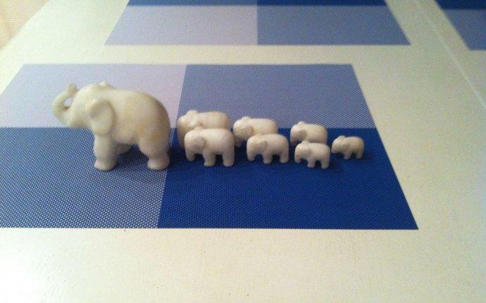 Набор слонов 7шт+большой слон (белый мрамор) Р. Купить в Минске