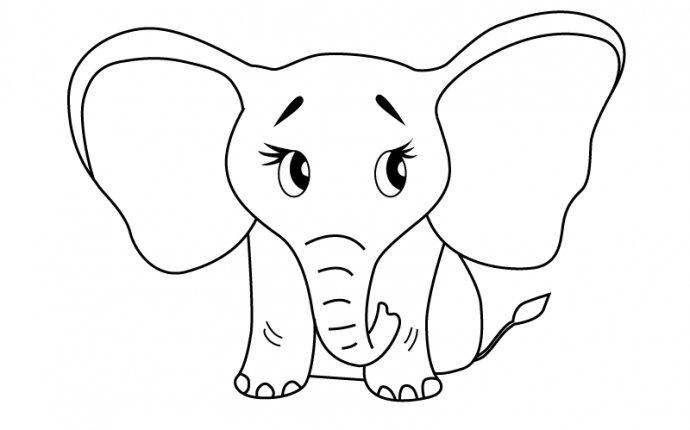 нарисовать слона для детей
