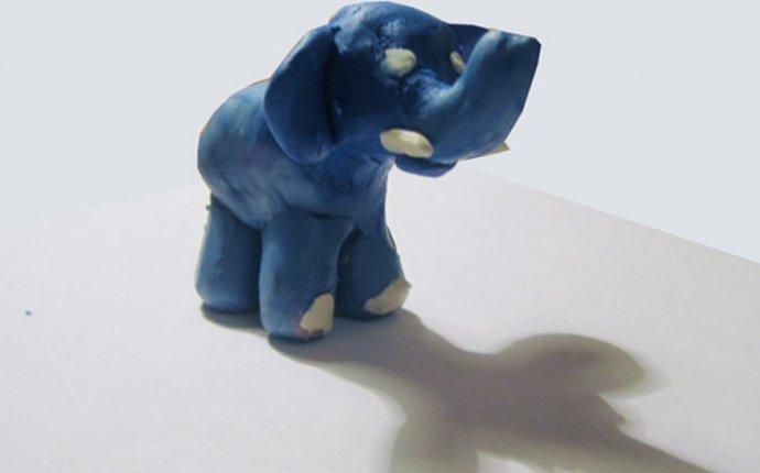 Слон из пластилина. Лепим слоников из пластилина