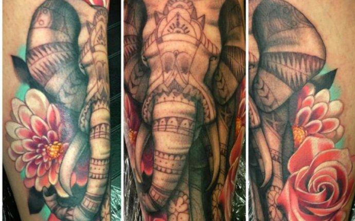 Татуировка слон - значение, эскизы тату и фото