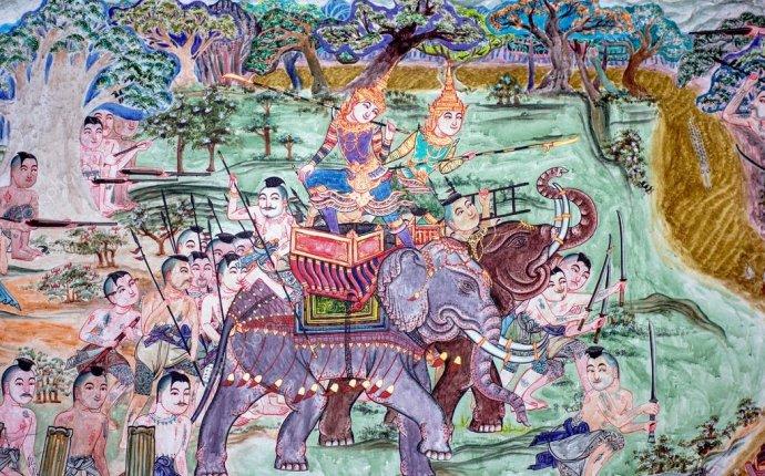 Война слонов в Таиланде росписи — Стоковое фото © shiero2546 #35575